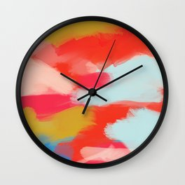 Summer In Abstract Wall Clock