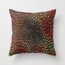 The Orange Stars Throw Pillow
