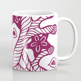Seaweed, coral and starfish ornament Coffee Mug