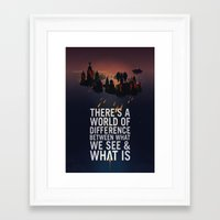 bioshock infinite Framed Art Prints featuring Bioshock Infinite Quote by Simon Ward