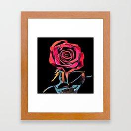 Digital Art Rose Framed Art Print