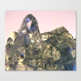 Blue Celestite Crystals Quartz Aura Said to Reduce Stress Canvas Print