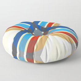 Selkie - Colorful Abstract Art Floor Pillow