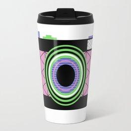 Snap That Retro Camera And Take That Geometric Pic Travel Mug