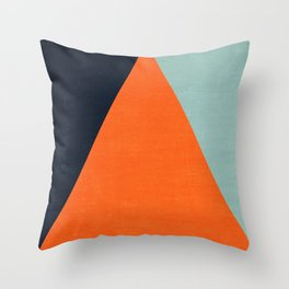mod triangles - autumn Throw Pillow