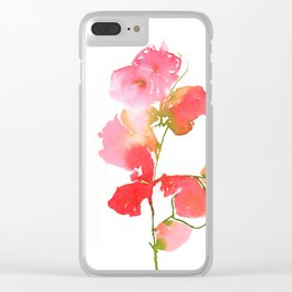 Bourgenvilla Flower Print Clear iPhone Case