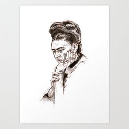 Frida. Art Print