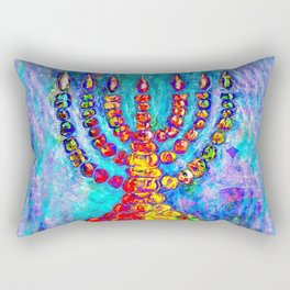 Temple Menorah Rectangular Pillow