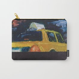 Subway Card NYC Taxi Painting Carry-All Pouch