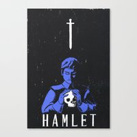 hamlet Canvas Prints featuring Hamlet by Gabbyness