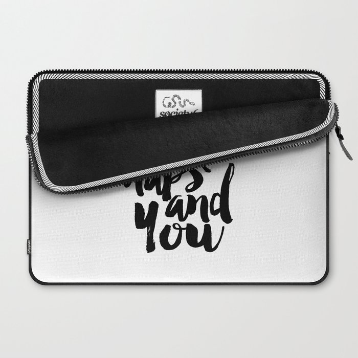 Bedroom Wall Art,I Like Naps And You, Funny Print,Love Sign,Bedroom Sign,Gift For Her,Quote Art Laptop Sleeve