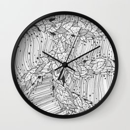 Blätterwerk 2 Wall Clock