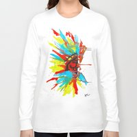 native american Long Sleeve T-shirts featuring Native American by ART HOLES