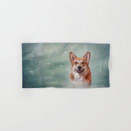 Drawing Dog breed Welsh Corgi portrait Hand & Bath Towel