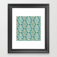 Arabesque seamless pattern Framed Art Print