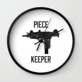 Uzi Piece Keeper Wall Clock