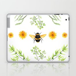 Bees in the Garden v.3 - Watercolor Graphic Laptop & iPad Skin