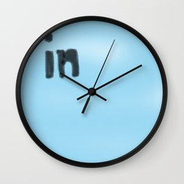 In blue Wall Clock