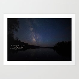 Milky Way over the Lake Art Print