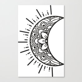 Half Moon Drawing Canvas Print