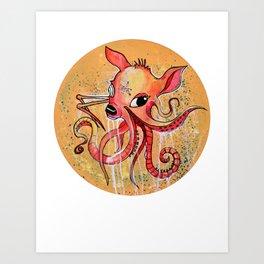 Octo-B Art Print