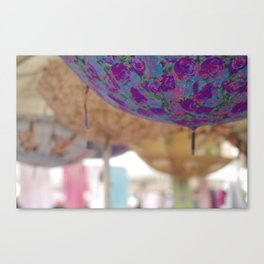Porta Portese Umbrellas Canvas Print