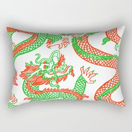 Battling Dragons Rectangular Pillow