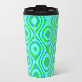 Mixed Polyps Green - Coral Reef Series 037 Travel Mug