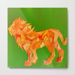 Lion collage of paint samples Metal Print