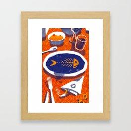 Fish Dinner Framed Art Print