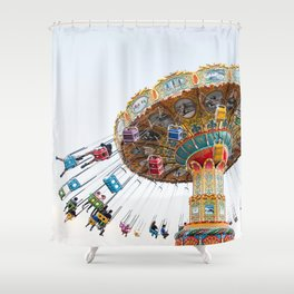 Santa Cruz Tilt A Whirl Shower Curtain