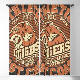 Angry Tiger Sport Blackout Curtain