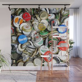 Bottle Caps Painting | Vintage Wall Mural