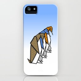 Origami Penguins iPhone Case