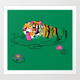 Tigar Lily Art Print