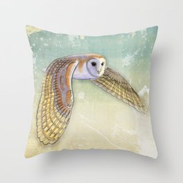 Barn Owl Labyrinth Throw Pillow