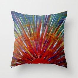 Rainbow Sun Throw Pillow
