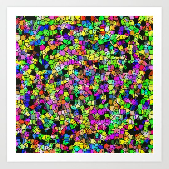 Speckled Smudge Art Print