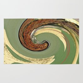 Swirl 05 - Colors of Rust / RostArt Rug