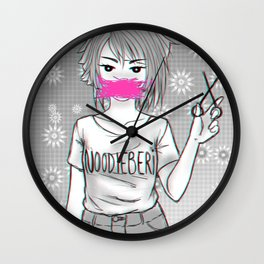 Cut Hair Wall Clock