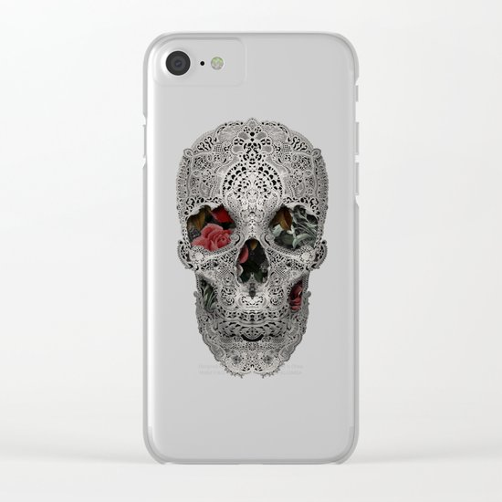 Lace Skull 2 Clear iPhone Case
