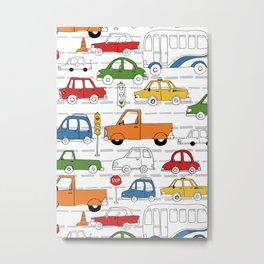 Busy Traffic Pattern Metal Print