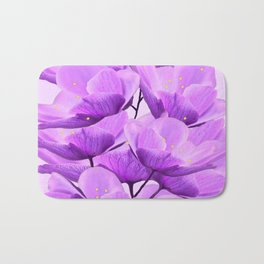 Violet Anemones Spring Atmosphere #decor #society6 #buyart Bath Mat