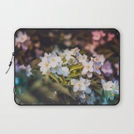 White Blooms Laptop Sleeve