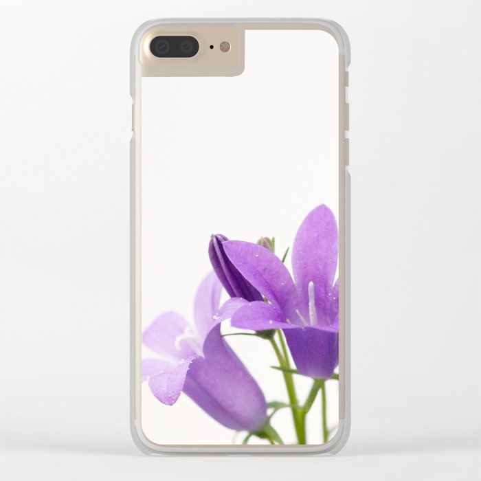PURPLE FLOWERS - Bellflowers #2 #decor #art #society6 Clear iPhone Case