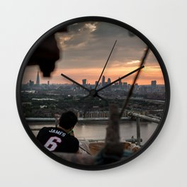 Catching sunsets Wall Clock