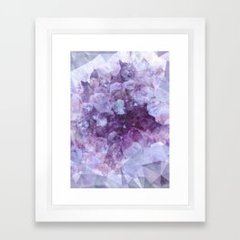 Crystal Gemstone Framed Art Print