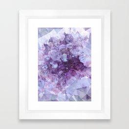 Crystal Gemstone Framed Art Print