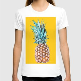 Pineapple Ananas On A Yellow Mellow Background #decor #society6 #buyart T-shirt
