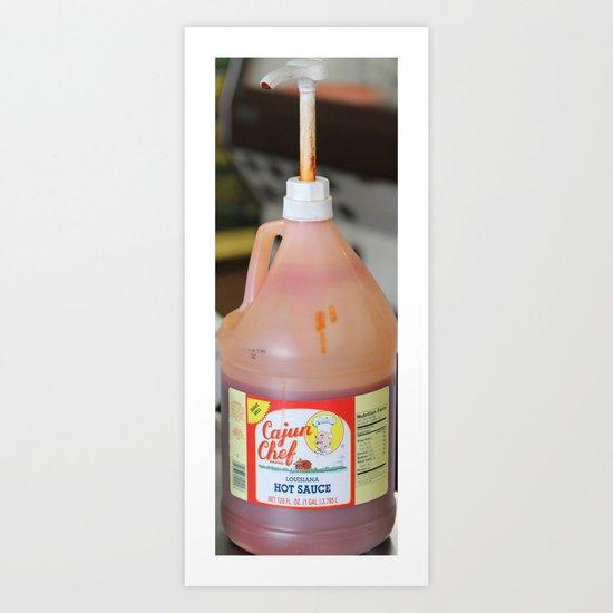 shrimp and hot sauce Art Print